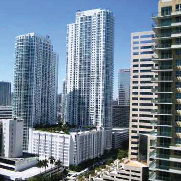 Plaza on Brickell Twin Condominiums
